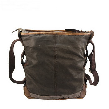 Rustic pigskin and waxed canvas bucket bags daypack unisex