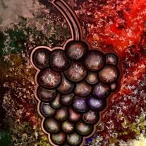 Grapes - digital art