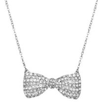 Bow Tie Necklace in silver