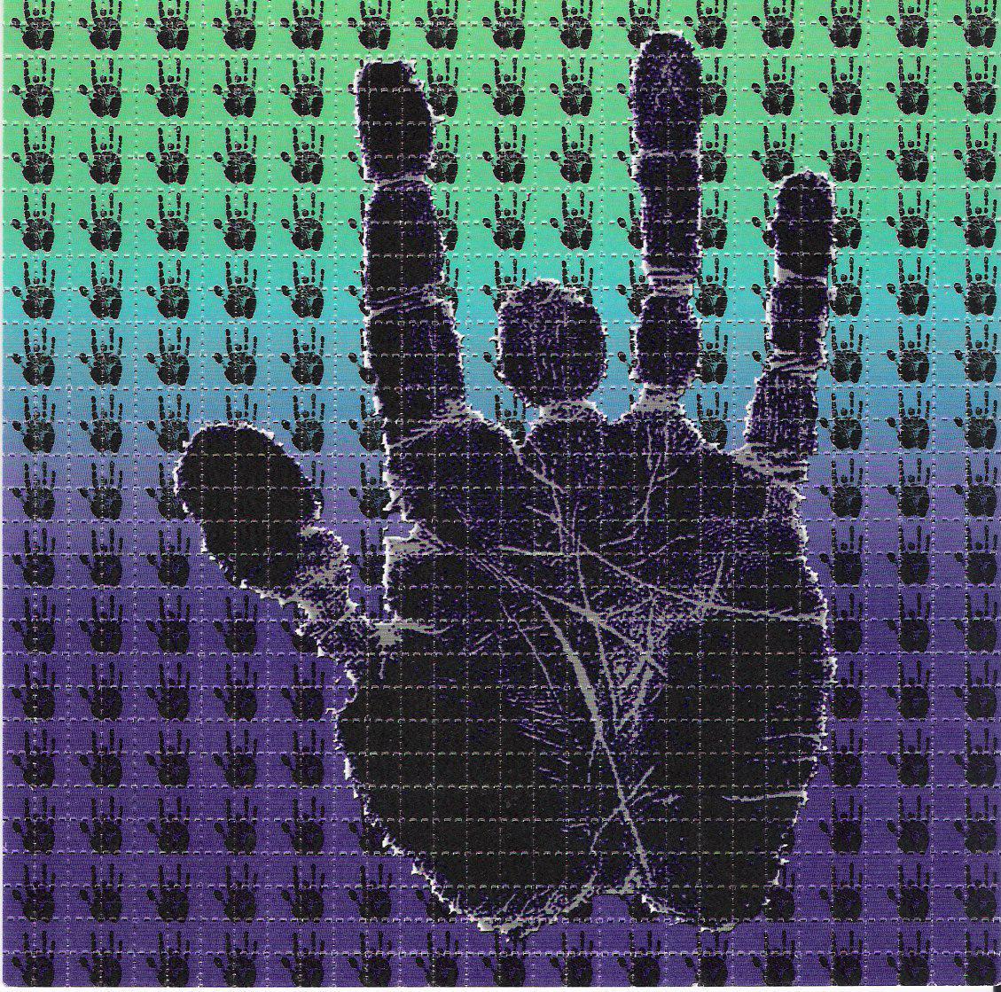 Grateful Deads Jerry Garcia Hand Print Blotter Art
