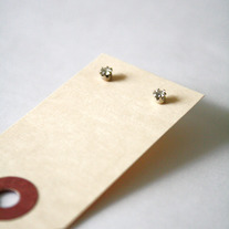 Silver CZ Stud Earrings - Vintage Deadstock