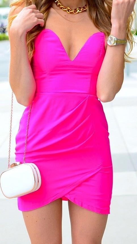 Pink club dresses