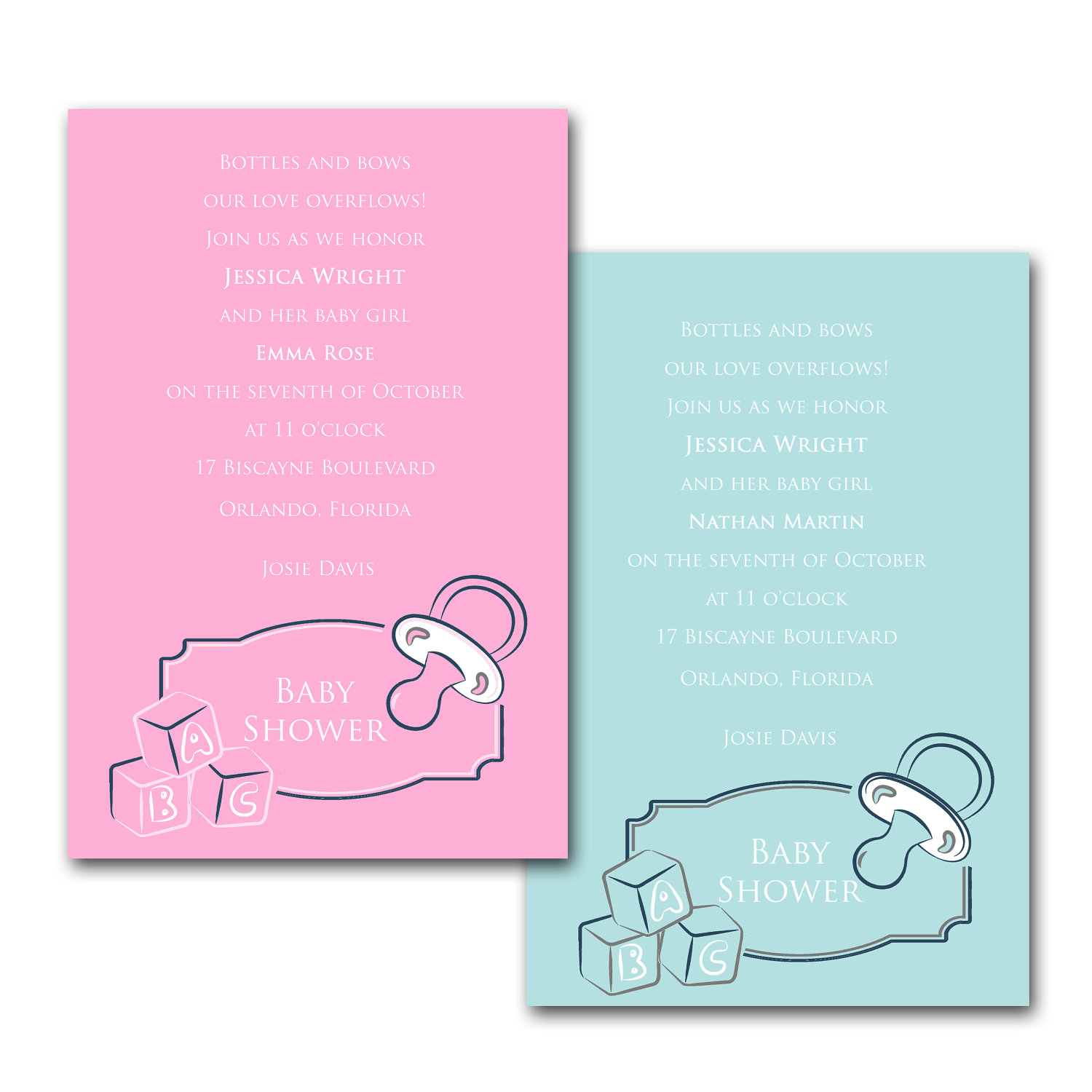riledesigns abc blocks baby shower invitations online store