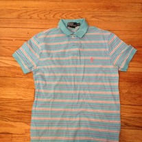 Ralph Lauren Blue/Pink Stripped Polo