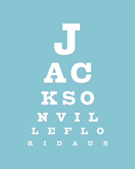 904 Paper Co Jax Eye Chart Print Online Store Powered By Storenvy