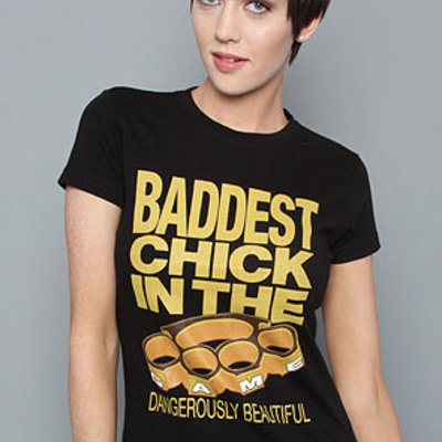 Baddest chick tee in black