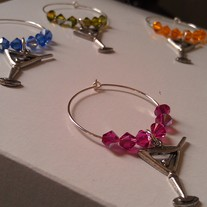 Swarovski Martini Glass Charms