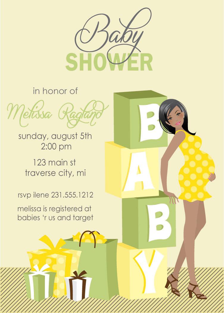 Blocks Baby Shower Invitations - Gender Neutral Baby Shower Invites ...