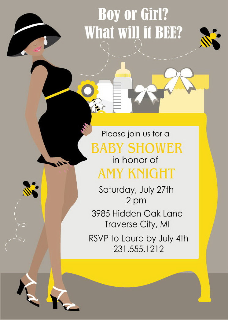 Bumble bee baby shower invitations gender neutral baby shower bumble bee baby shower invitations gender neutral baby shower invite you print thumbnail filmwisefo