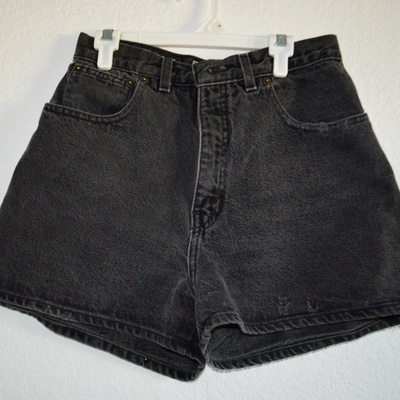 Vintage express distressed high waisted shorts