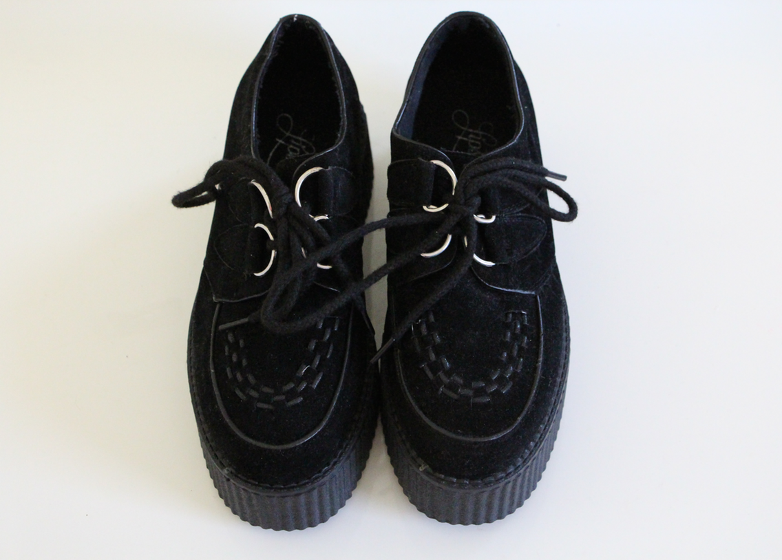 Black Suede Creepers Lipstik Joy In A Box Online Store Powered Thumbnail 3