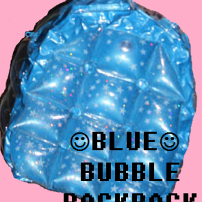 Blue glittery bubble backpack