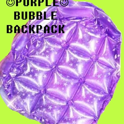 Purple glittery bubble backpack