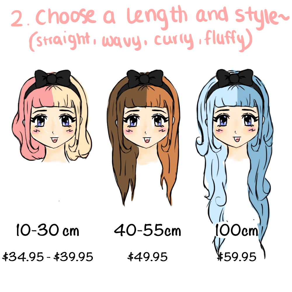 gothic lolita wigs alternative cheaper affordable custom customisable customizable sweet soul shop cute kawaii mori girl japan japanese wigs make create your own