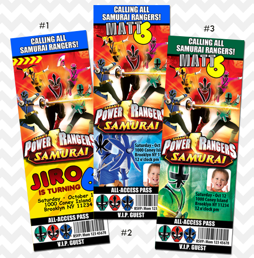 Power Ranger Birthday Invitations is an amazing ideas you had to choose for invitation design