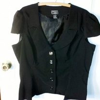 Ashley Black Short Sleeve Blazer 2X