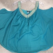 Jade off shoulder blouse
