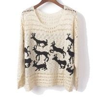 Beige deer Sweater