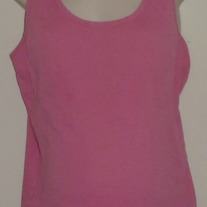 Pink Ribbed Nursing Tank Top-Motherhood NursingWear-Size Large CLLO1