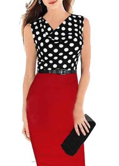 Sold Out Polka Dot Red And Black Dress Ms Vina D Inc Boutique