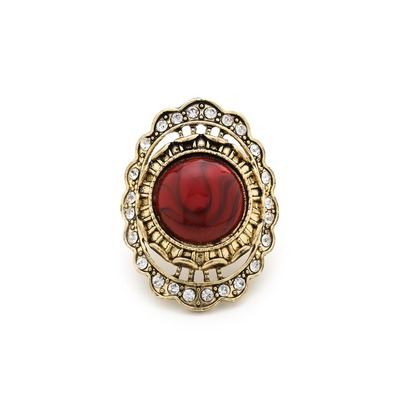 Day to night stone ring - red
