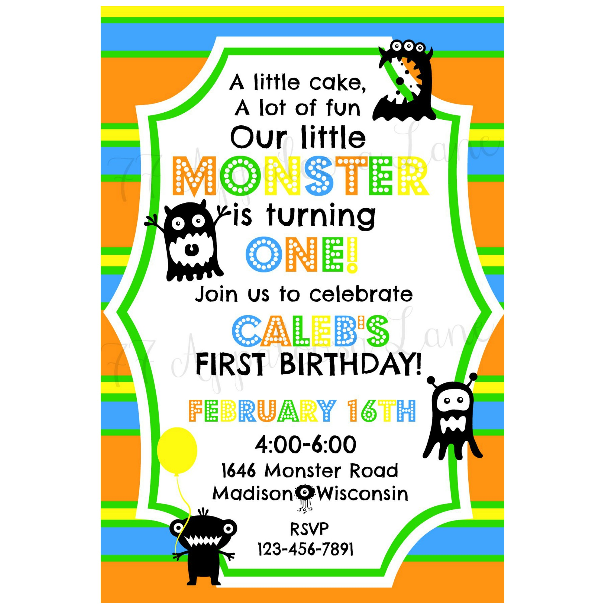 zoom. il_570xn. little monster birthday invitations. monster ...