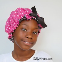 Girls Bonnet- Pink Polka Dot