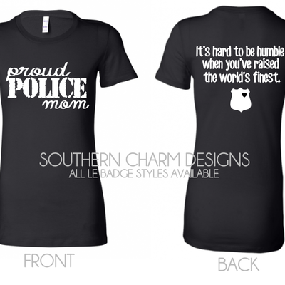 Law Enforcement Support Apparel Southern Charm Designs