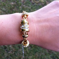 Chanel Inspired Gold Bracelet