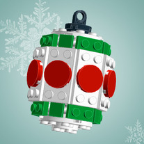 Green/Red Barrel Ornament (Kit)