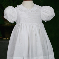 Feltman Brothers Girls Sweet White Smocked Midgie Dress