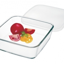 Simax Medium Square Storage Dish w/Plastic Lid 4.2 Cups