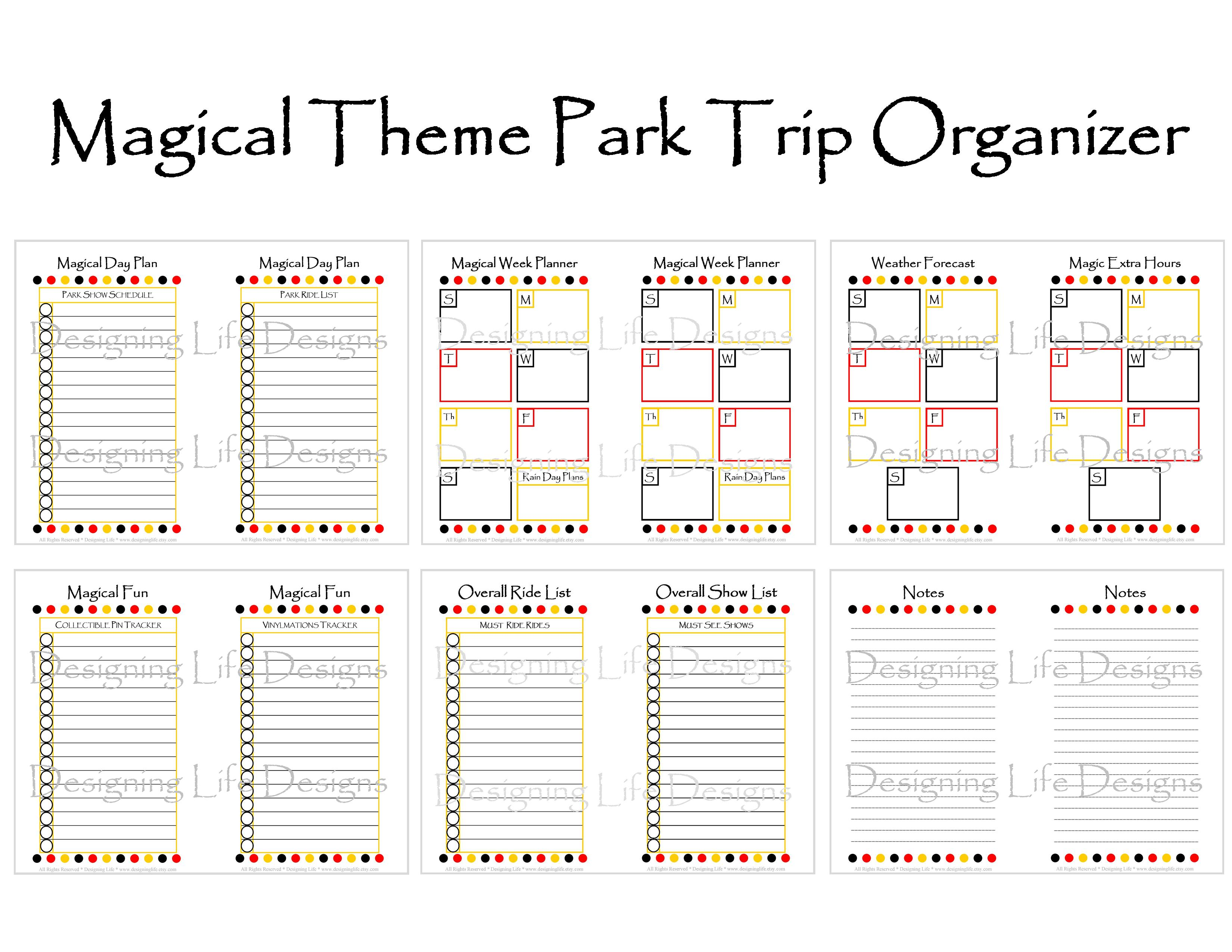 Magical Vacation Planner - Mini Binder Printables · Designing Life ...