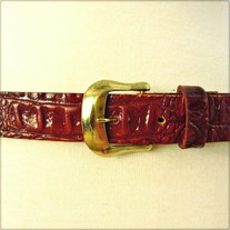 Brown Faux Alligator Belt