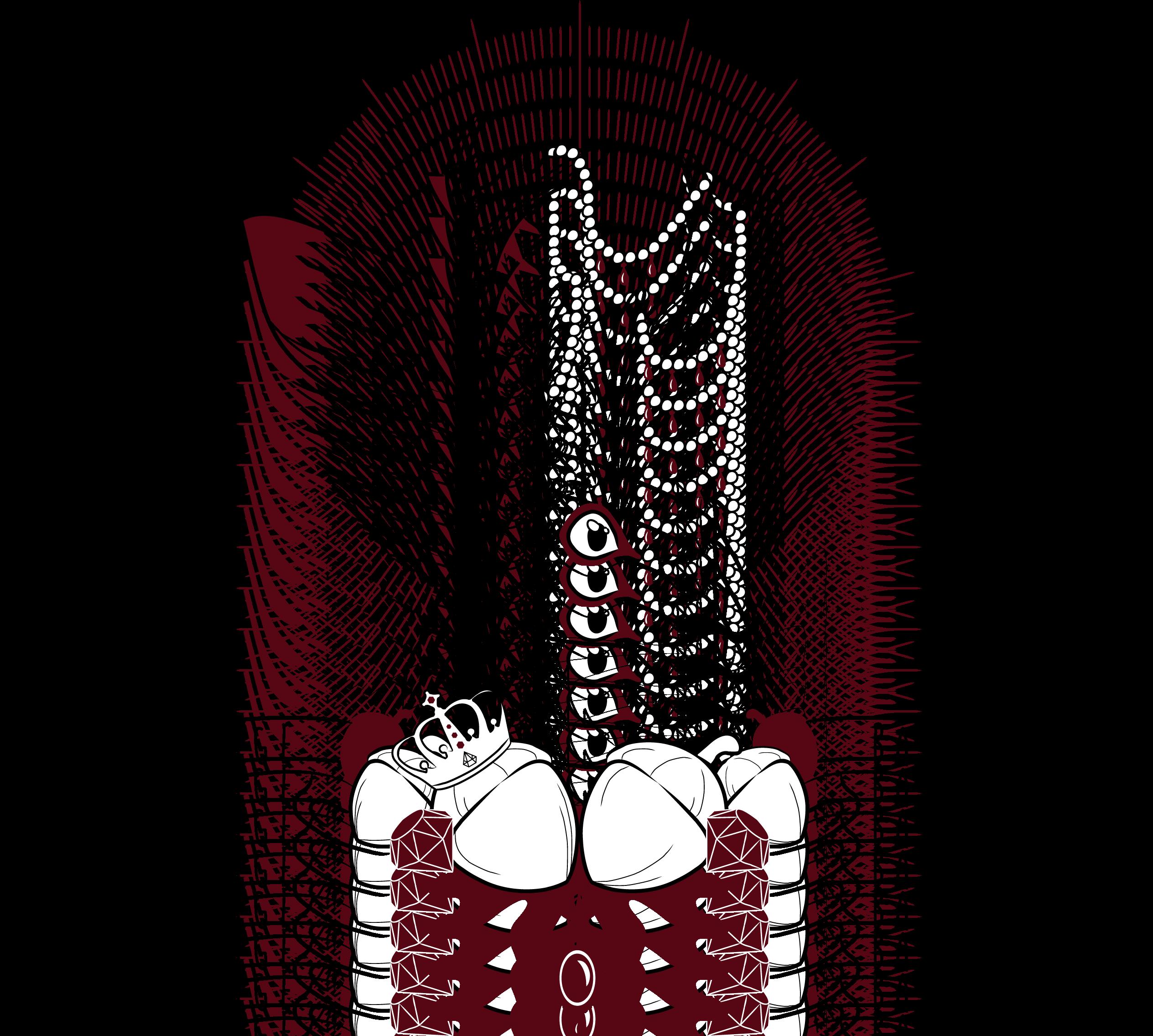 Mounted jackalope illustration