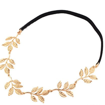 Gold Olive Branch Leaves Grecian Garland Angelic Headband