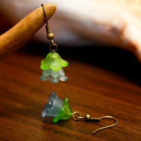 Rainforest Lucite Flower Earrings