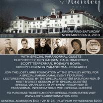 Stanley Hotel Nov. 8&9, 2013: General Admission