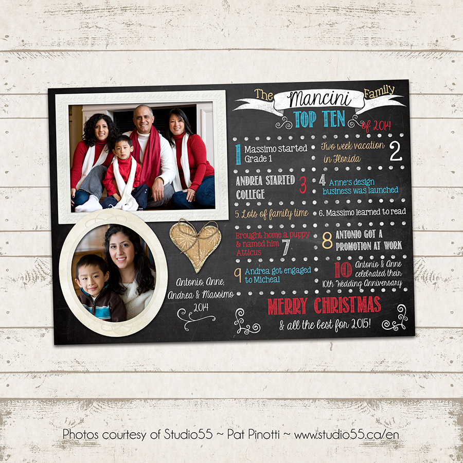 Valerie Pullam Designs | Christmas Photo Card - Year in Review - Top ...