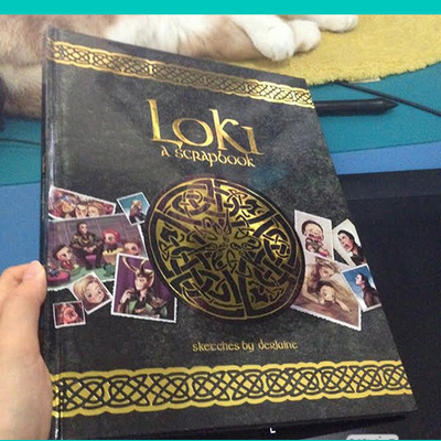 Loki book with letter print set