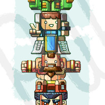 World Warriors Totem - Street Fighter 25th Anniversary tribute