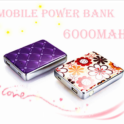 Mobile power bank for iphone / ipod / ipad / cell phone 6000mah
