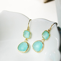 Gemstone Earrings - Choose Color