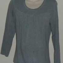 Gray Long Sleeve Shirt-Announcements Maternity Size XL