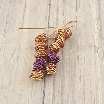 Buddhist RainChain Earrings