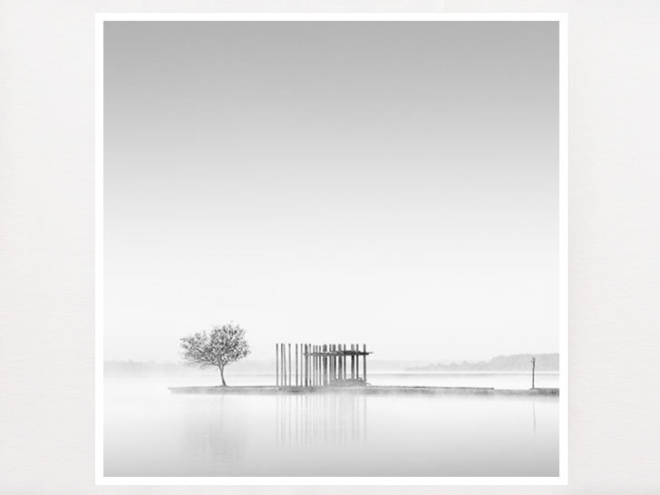 Minimalist wall art black and white photography gift for her france