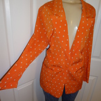 Neon Vintage Orange Polka Dot Blazer in good condition! Size 10