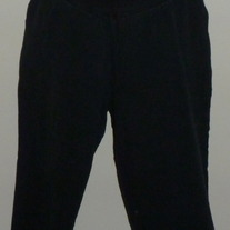 Black Capris-Duo Maternity Size Large  01292