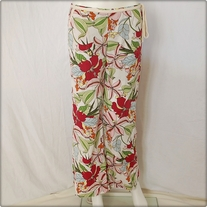 Floral Roxy Cotton Pants
