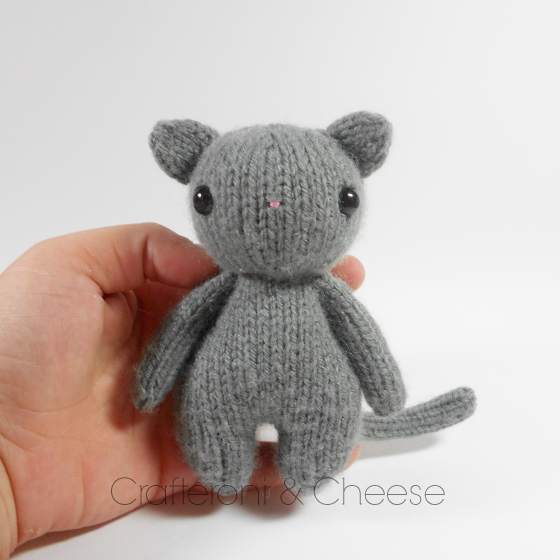 CLEARANCE - Amigurumi Knit Cat Plush ? Crafteroni & Cheese ...